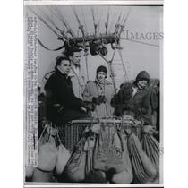 1954 Press Photo Francis Shield, Don Picard, Eleanor Vadala and Kate Ornsen