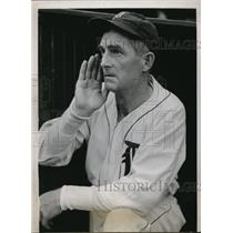 1938 Press Photo Detroit Mich David D Baker coach of Tigers - nes19938
