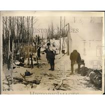 1926 Press Photo Gold Rush Settlement, Red Lake Camp, Northern Ontario Canada