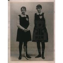 1922 Press Photo K E Lidderdale Mrs Eyre International Hockey Players Ireland