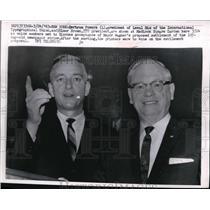 1963 Press Photo Bertram Powers, Elmer Brown, International Typographical Union