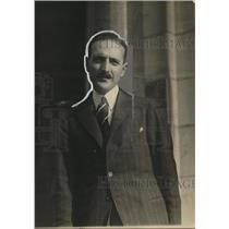 1920 Press Photo Gonzalo Montt, Secretary of the Legation of Chili