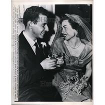 1950 Press Photo Brooklyn lawyer Albert H. Socolov marries convicted spy