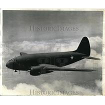 1943 Press Photo Pictured is new Curtiss Commando troop transport manufactured
