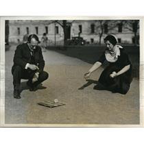 1931 Press Photo Hesitating Hand Golf Invented by George B. Emerson, Boston Univ