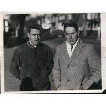 1932 Press Photo B. Hutchinson and C. White whom searched for Frances Rempeed