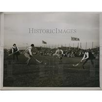 1930 Press Photo Womens field hockey Merton Abbey vs Australia - nes20912