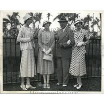 1933 Press Photo Miami, FL Grace Amory with others - ned13905