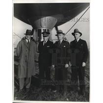 1934 Press Photo Lt Cmdr HV Wiley, Lt AT Sewell,Lt Com FW Reichelderfer
