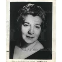1964 Press Photo Henzie Raeburn American Actress Wife Of E. Martin Browne Actor