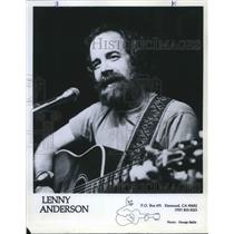 1981 Press Photo Lenny Anderson American Folk Singer Guitarist Musician