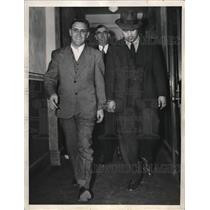 1938 Press Photo Mikhail Gorim And Hafle Salich Are Handcuffed Together