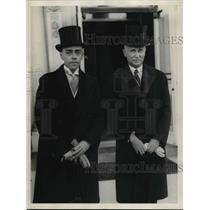 1929 Press Photo Eric Loww and M Castle Jr.