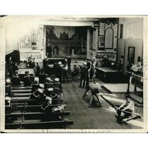 1918 Vintage Photo US Sailors Working Out US Naval Men's Club London