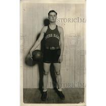 1928 Press Photo Captain Joe Johnson of The Notre Dame Basketball Team