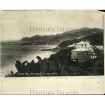 1925 Press Photo Evans Bay, Wellington New Zealand