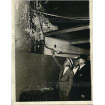 1926 Press Photo Sheriff Hoffman, warden Geo Weidelling, Fred Springer