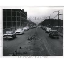 155 Press Photo Wasted Lanes And Space Taken By Repairs on 55th Street