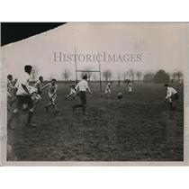 1923 Press Photo Eton College vs Ealing at rugby football match