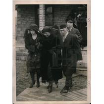1922 Press Photo John Brunen's murder vivtims funeral near his home