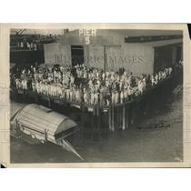 1912 Press Photo Pier 5 Manila Landing