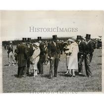 1928 Press Photo H.R.H. Prince of Wales, H.R.H. Duke of York, Princess Mary,