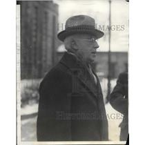 1929 Press Photo Edgar Jennings Warden Auburn New York Prison Hospital Discharge