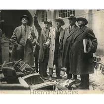 1929 Press Photo Clinic investigation team of lawmen