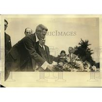 1922 Press Photo General Gaston Gassouin at Tomb of Unknown Soldier Arlington