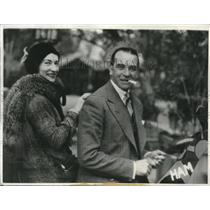 1931 Press Photo Mr. and Mrs. Claude Grahame-White, Aviator and Musical Actress
