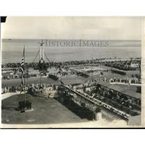 1928 Press Photo American Vets with Cuban Army in Memorial Ceremony in Havan