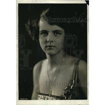 1920 Press Photo Miss Anna Hamlin, Washington Debutante