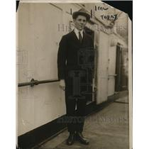 1919 Press Photo Kenneth Triest, American Youth who was thought to be a spy