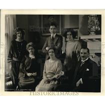 1923 Press Photo Senor E C Lyons Attache of Panama with Wife & Family Washington