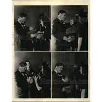 "1938 Press Photo ""How to Win $25"" Professor Quiz and a contestant."