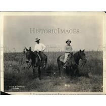 1924 Press Photo Cowboys on Horseback at Pat Neff Prison System Honor Farm