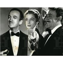 1964 Press Photo David Niven Capucine and Peter Sellers in Pink Panther