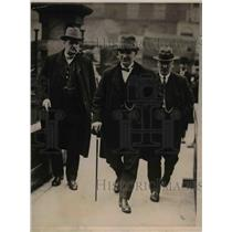 1921 Press Photo Robsonm F Hodges & J McGurk miner reps at Unity House London