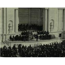 1922 Press Photo Rotarian Convention in Washington D.C. Honor Unknown Soldier