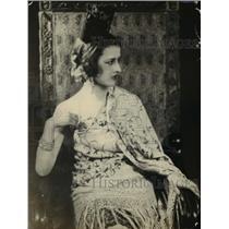 1925 Press Photo Mrs. Rivera Wife Of Peruvian Minister