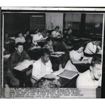 1957 Press Photo Integrated Students at Freeport High School in Long Island.