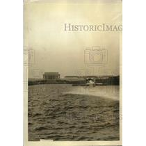 1923 Press Photo Lincoln Memorial in Wash DC  reflecting pool