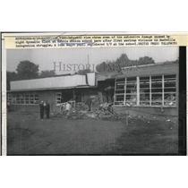 1957 Press Photo Nashville TN Hattie Cotton scholl damaged by protestors