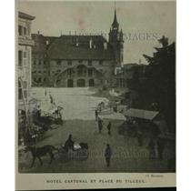 1919 Press Photo Fribourg City Switzerland Hotel Cantonal