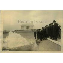 1922 Press Photo Lincoln Memorial & reflecting pool in DC opened by H Faust