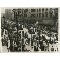 1932 Press Photo LA Calif Bonus Army starts out to Wash DC