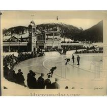 1926 Press Photo International speed skating contest in NYC, Hugo Brink