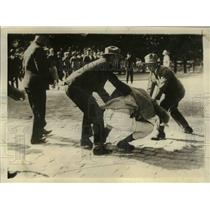 1930 Press Photo Editor in Scuffle at Finnish Communist Demonstration at Waasa