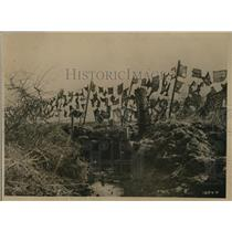 1918 Press Photo Camoflage on Belgian front lines vs Germans