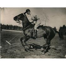 1914 Press Photo Polo Player Hugh Drury of Coronado Team at Riverside Tournament